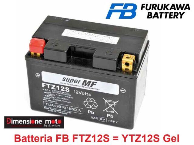 Batteria FB FTZ12S = YTZ12S Gel 12V-11,6Ah per HONDA Forza 250 X dal 2005 >2007