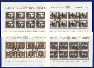 Liechtenstein-1978-Regierungsjubilaeum-706-09-Kleinbogen-ESST-CTO-Mi-70-00