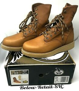 Details about Georgia Boots Barracuda Golden Brown Work High Boots Mens SZ 12W NEW! Ships Free