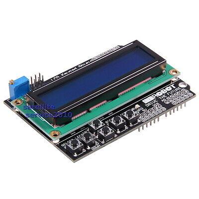 Modulo LCD 1602 Modulo Retroilluminazione Blu Tastiera Keypad Shield per Arduino