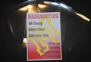 10-A4-Inkjet-Printable-Clear-Adhesive-Acetate-Sticker-Film-Sheets-120mic