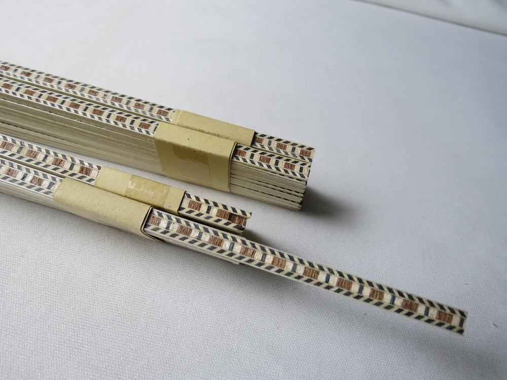 50 tira Luthier Labrado Filete C-65, medidas 6 Mm Mm Mm x 1.0 mm de espesor y 640 mm largo  calidad garantizada