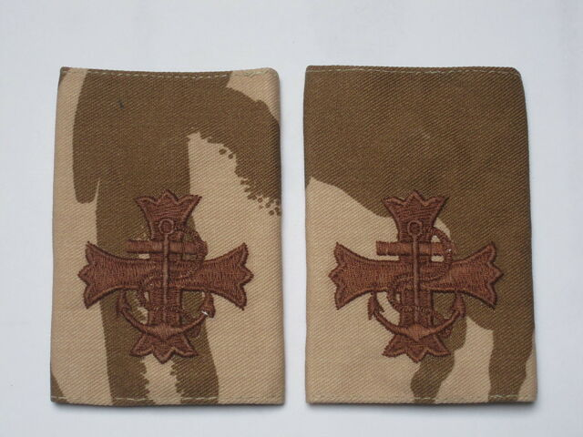 Shoulder marks Desert ROYAL Navy CHAPLAIN, Navy Spiritual,Priest