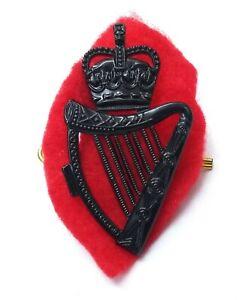 Genuine Obsolete RUC Police Type Subdued Black Irish Harp Insignia Badge GIM87
