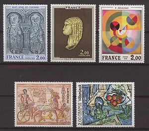 FRANCIA-FRANCE-1976-MNH-SC-1464-1468-Fine-Art