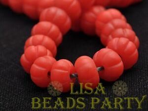 5pcs-10x7mm-Lampwork-Glass-Flat-Pumpkin-Shape-Charms-Handmade-Loose-Beads-Red