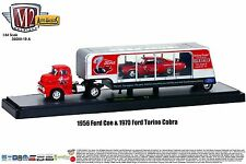 1:64 M2 Machines AUTO-HAULERS R19A = 1956 Ford C-500 SEMI w/1970 Torino NIB