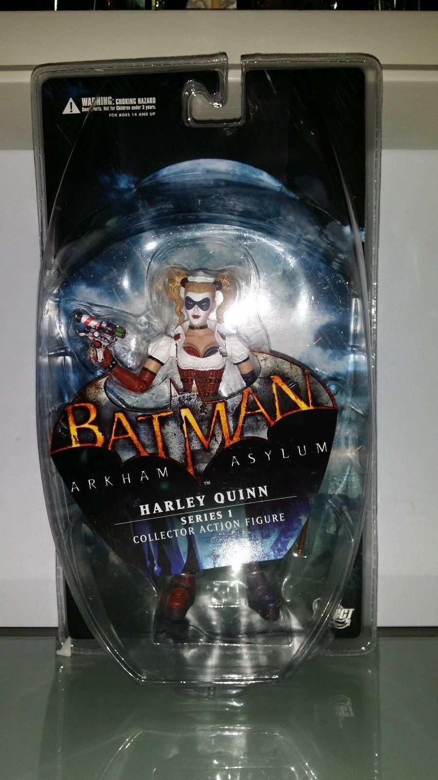 DC Direct Batman Arkham Asylum Series 1 Harley Quinn Collector action figure MIB