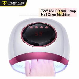 72W LED UV Lamp Nail Polish Gel Dryer Curing Light Manicure Pedicure Auto Sensor
