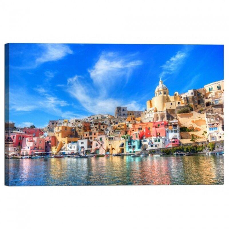 Quadro Stampa su Mediterraneo Tela con Telaio Isola nel Mar Mediterraneo su costa Napoli 31fdac