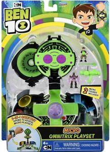 Cartoon Network Ben 10 Micro 2-In-1 Omnitrix Playset w/ 2 Micro Figures New