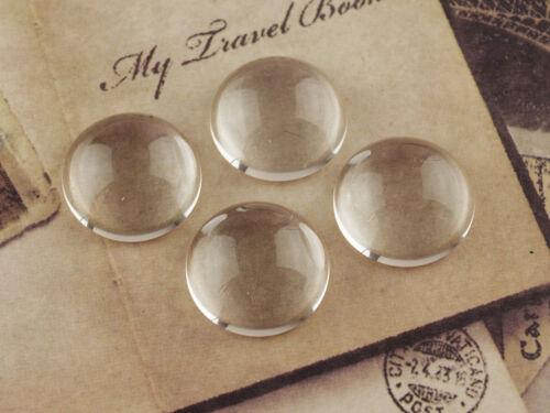 Dome vidrio claro 18 mm 4 espesor cúpula cabuchons Glass cabuchons transparente