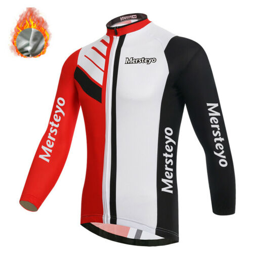 Mersteyo Thermal Mens Long Sleeve Cycling Jersey Padded Tights//Trousers Bicycle