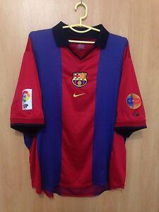 BARCELONA-SPAIN-2000-2001-HOME-FOOTBALL-SHIRT-JERSEY-CAMISETA-VINTAGE-NIKE