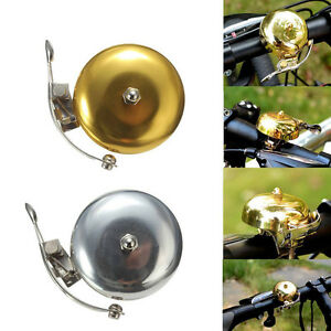 """New Classic Bicycle Bike Cycling Handlebar 2"""" Bell Ring Loud Horn Slive&Gold TB"""