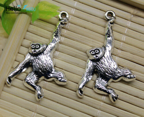 Lot 10//30pcs Retro style Great apes animal alloy charms pendant DIY 28x34mm