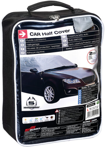 Sumex Waterproof /& Breathable Weather Frost Protection Car Half Top Cover MEDIUM
