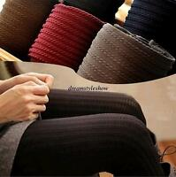 Stylish Womens Winter Warm Pantyhose Tights Thick Knit Footed Cotton Stockings