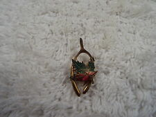 Goldtone Canada Maple Leaf Wishbone Pin (A36)