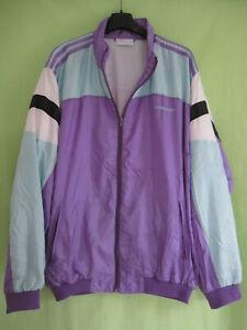 Détails sur Veste Adidas Team Nylon Polyamide 90'S Violette Vintage Jacket 186 XL