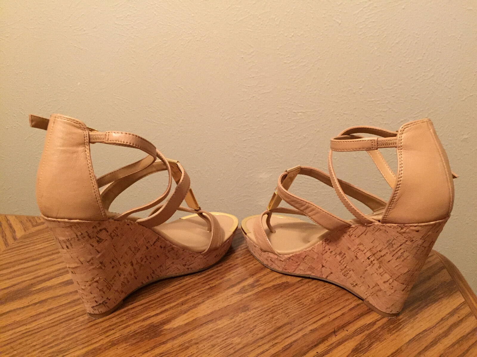 damen tan and Gold Dolce Vita cork cork cork wedge Größe 8.5 5aeecf