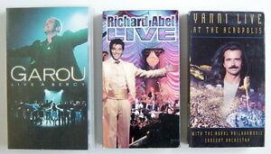 3-CASSETTES-VHS-DE-SPECTACLE-DE-YANNI-GAROU-RICHARD-ABEL