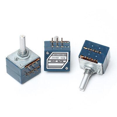Japan ALPS RK27 VOLUME Pot Stereo audio taper potentiometer Dual 100K ROUND