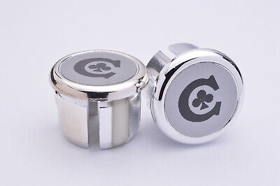 XTR Silver Handlebar End Plugs Bar End Caps endcaps vintage New chrome