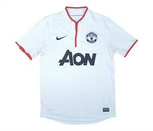 Manchester United 2012-14 Authentic Away Shirt (eccellente) S Soccer Jersey