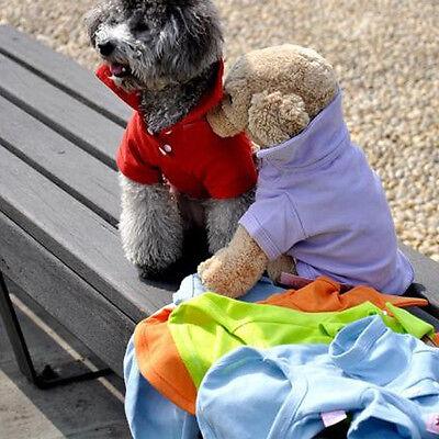 New Summer Puppy T-Shirts Clothes Pet Dog Cat Polo Cool Shirts Tops XS S M L U46