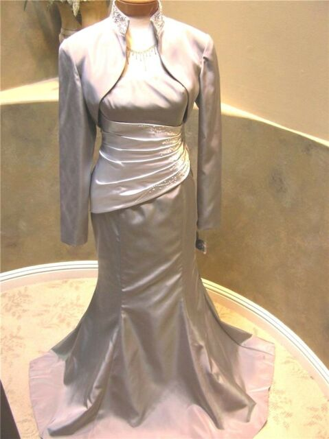 NWT Jordan Caterina Coll formal occasion evening social party Dress gray 12
