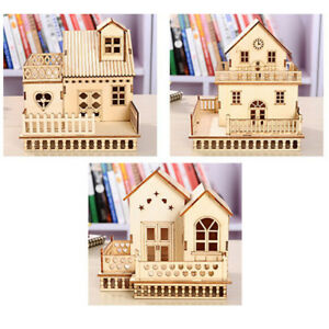 DIY-Model-Miniature-Dollhouse-Wooden-Frame-Doll-House-Kit-Toy-Xmas-Decor-Gift