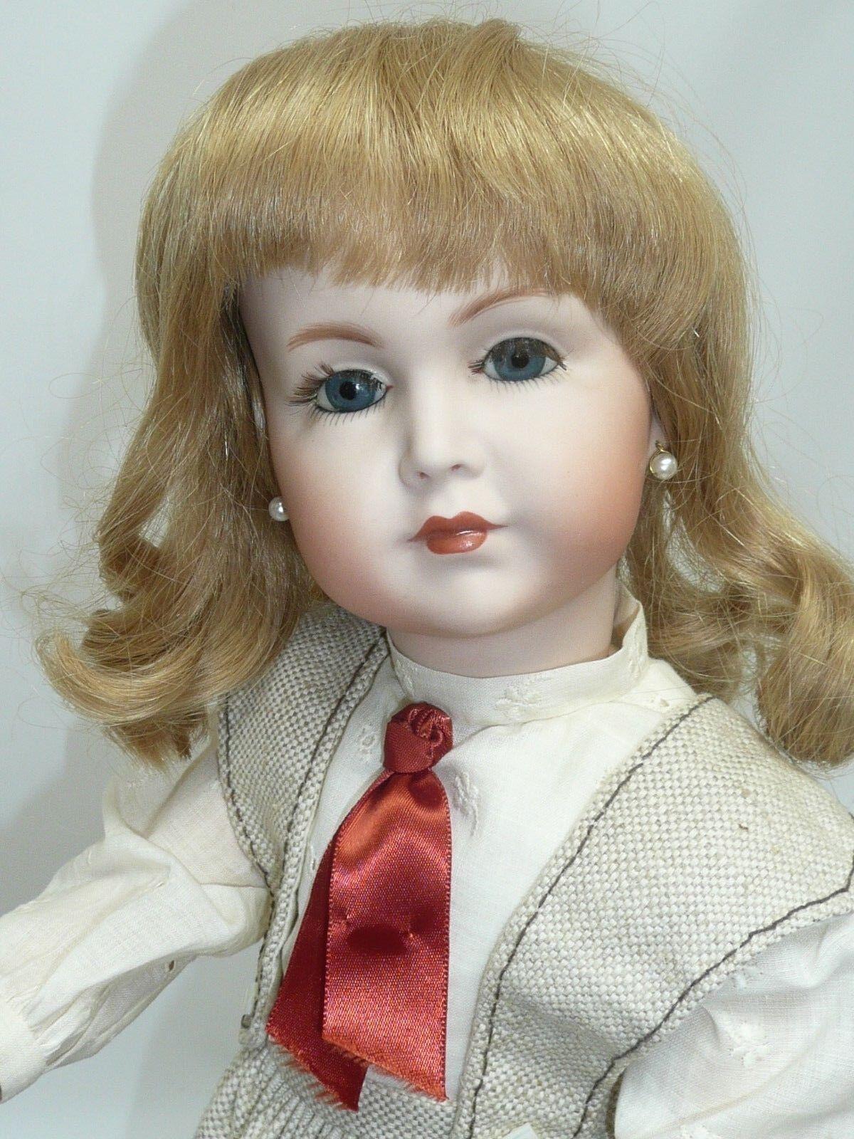 17.5  Geruomo K estrella R  117 Bisque Repro. blu Eyes, HH Wig, Beautiful, Judy Frank  popolare