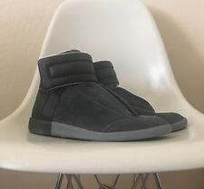 Maison Martin Margiela Future Leather Suede Black Grey Sz 41.5 8.5 NEW $895