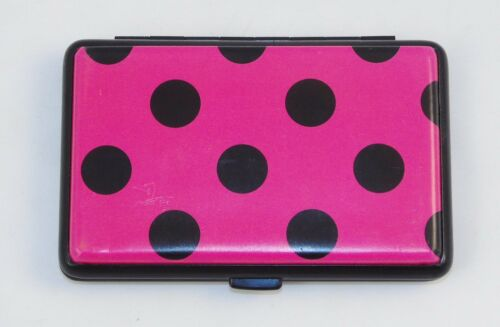 Ladies/' Accordion Metal Credit Card Wallet ~ 7 Pockets /& 8 Bold Colors NEW