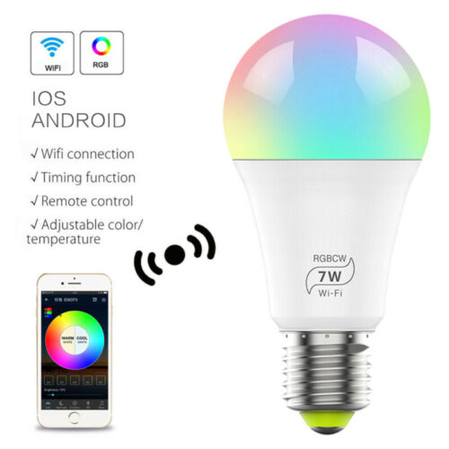 WiFi Smart Light Bulb Dimmable Switch LED E27 Lamp For Google Home //Alexa//IFTTT