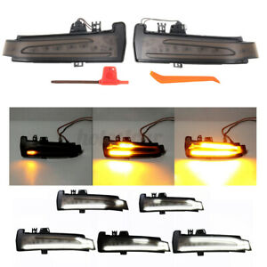 Dynamic LED Side Mirror Indicator Turn Signal Lights For Mercedes Benz W204