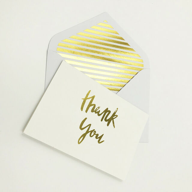 10X Personalised Thank You Cards Postcards appreciation cards and Envelopes HW71