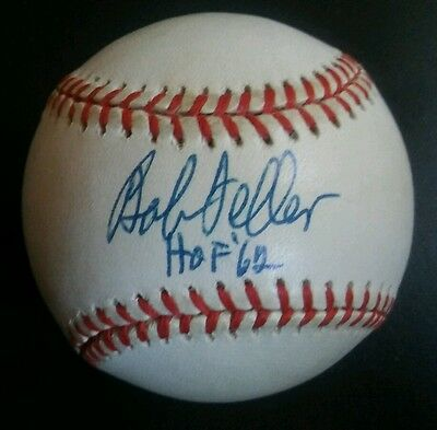 Nice Bob Feller Autographed Rawlings Official Al Baseball Hof '62 Sports Mem, Cards & Fan Shop