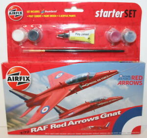 Airfix-1-72-Scale-A55105-RAF-Red-Arrows-Gnat-Starter-Set
