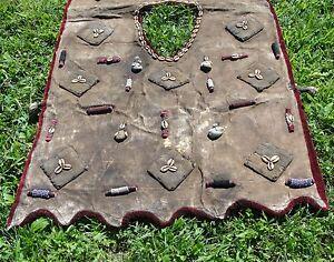 African-Hunter-Vest-Jacket-Amulet-Textile-Fabric-MudCloth-Bead-Nigerian-Shamanic