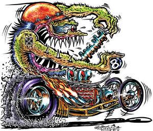 Crank-Rod-STICKER-Decal-Hot-Rod-Fink-Art-Von-Franco-VF43-Roth-Like