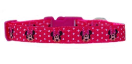 Pink /& White Polka Dots Minnie Chihuahua Perro Cachorro Collar de plomo Paso En Arnés