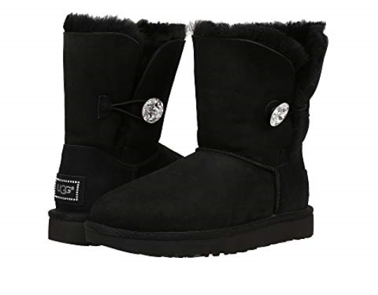 d7942b34a9c UGG Australia Bailey Button Bling Black BOOTS Womens Size 8