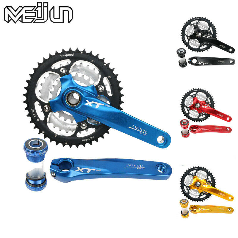 For Shimano SRAM Triple MTB Bike Chainring Crankset BB 22 32 44T Crank
