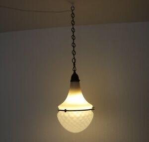 Stilvolle Lampe - Modell Luzette - Entwurf Peter Behrens für Siemens - Milchglas