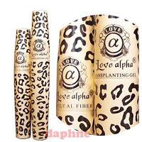 1 Set (2 Tubes) Love Alpha La729 English Version (gel & Fiber) Mascara Set - Br