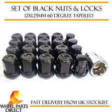 Black Wheel Nuts & Locks (16+4) 12x1.25 Bolts for Infiniti G35 Sedan [Mk2] 07-09