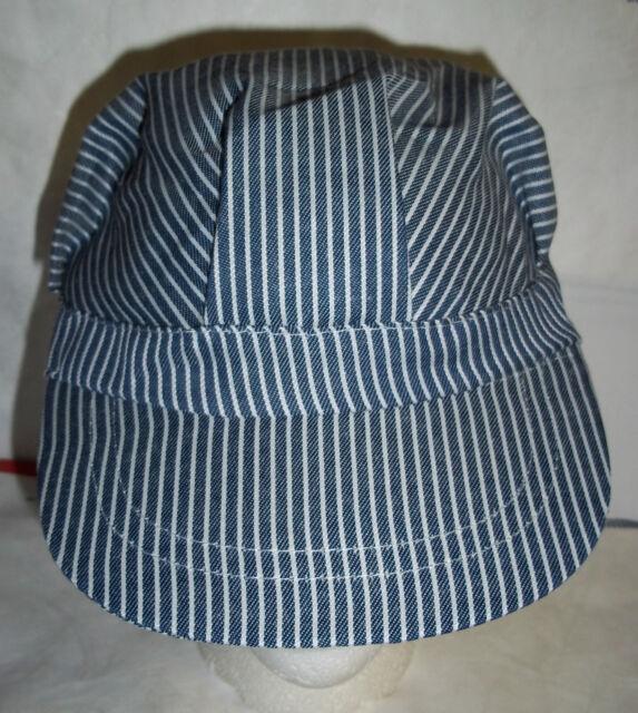 Train Engineer Hat Conductor Blue White Costume Cap Engineer/'S Child Boys Girls