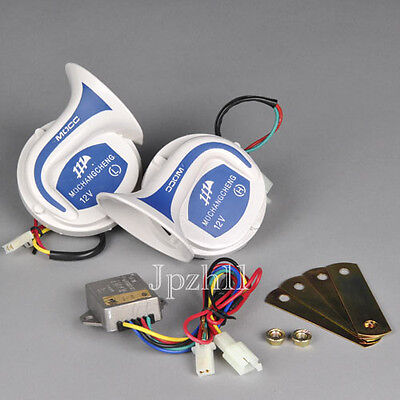 Car Van Truck UTE Electric Ultra Loud Air Snail Horn Digital magic 18 Sounds #C3